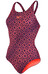 speedo Endurance10 Monogram Allover Muscleback Swimsuit Women phantom grape/pyscho red